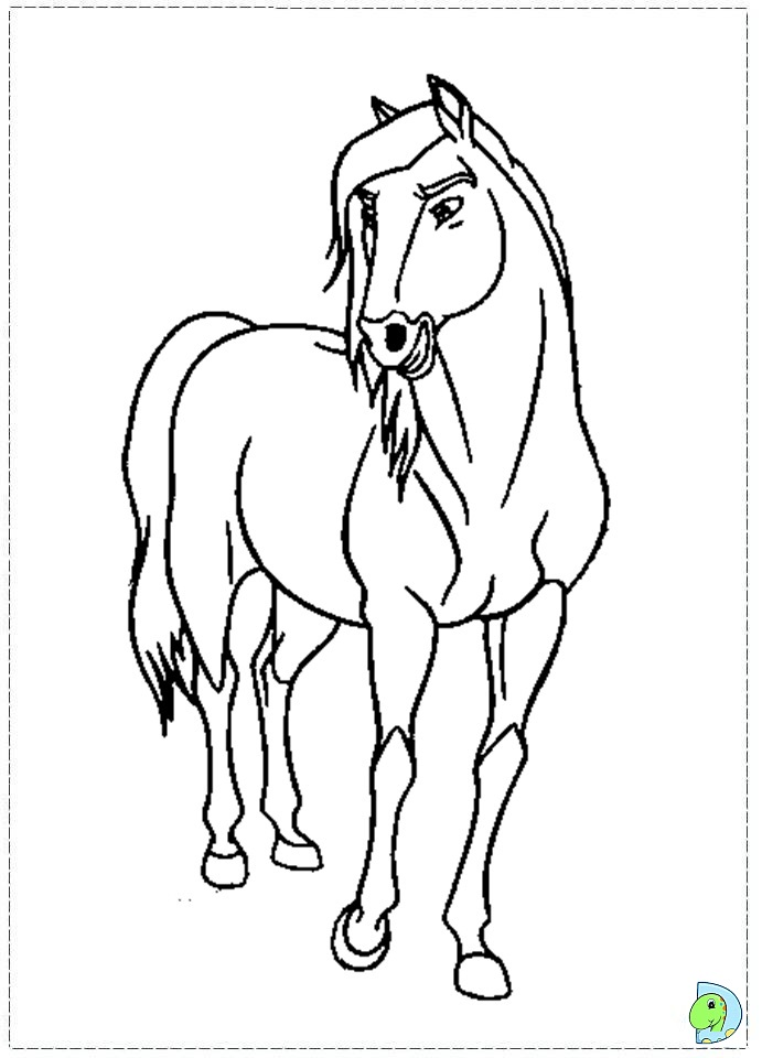 spirit stallion free coloring pages - photo#25