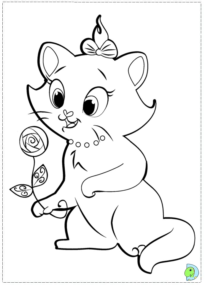 marie the cat coloring pages - photo#13