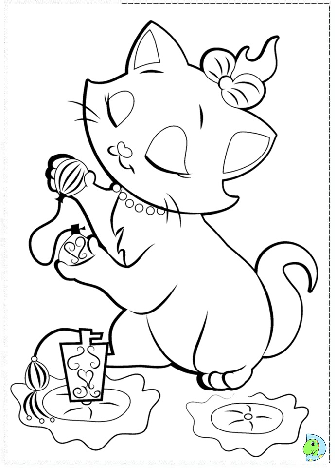 marie the cat coloring pages - photo#25