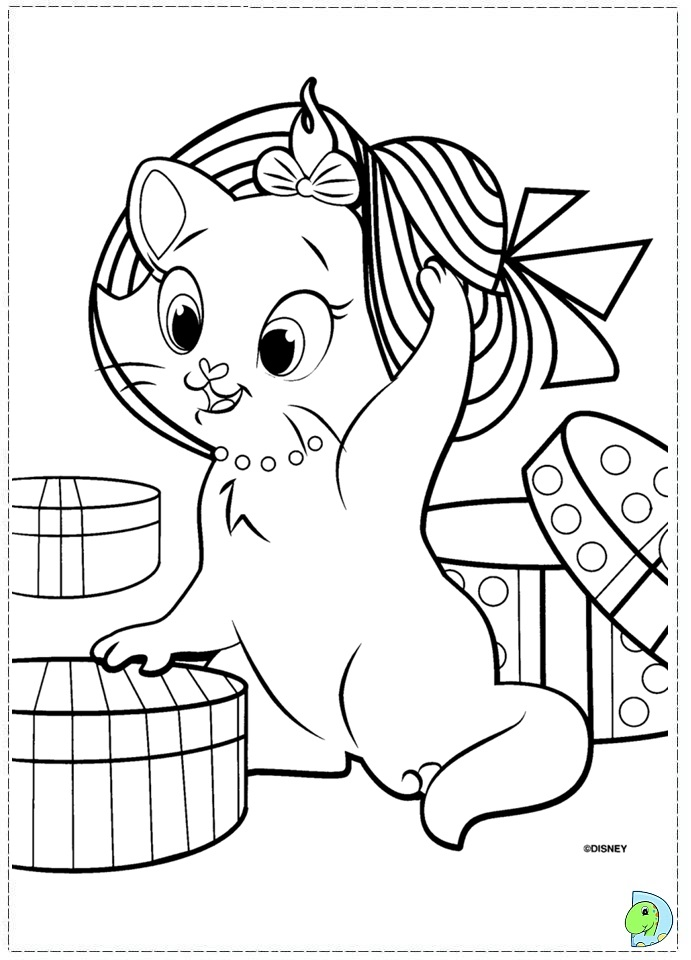 marie the cat coloring pages - photo#24
