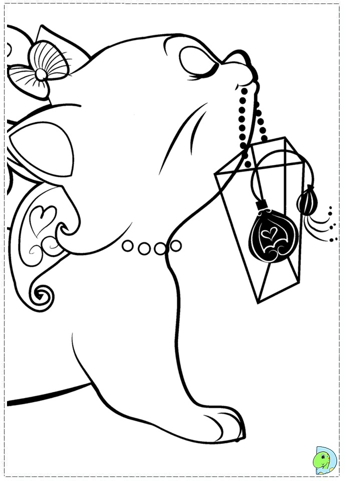marie the cat coloring pages - photo#9