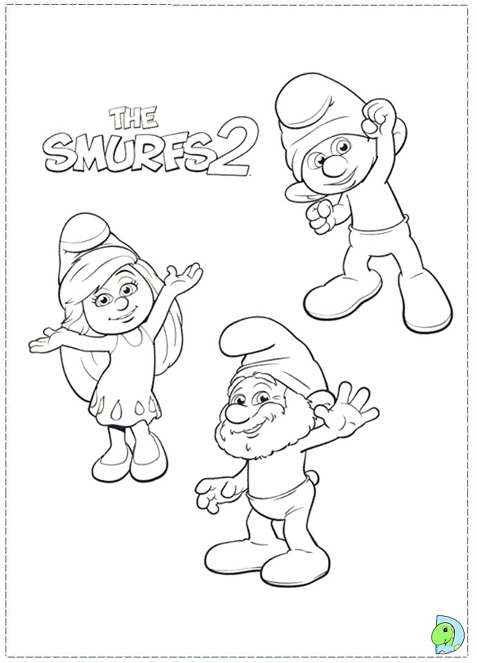 The Smurfs 2 Coloring page- DinoKids.org
