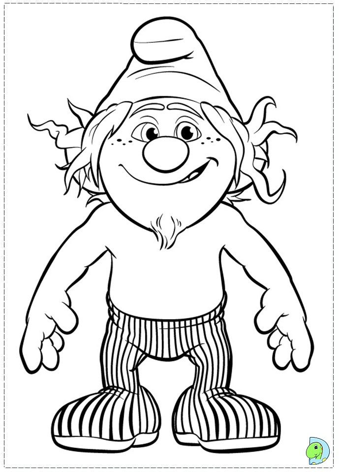 The Smurfs 2 Coloring Page Dinokids Org The Smurfs 2 Coloring Pages