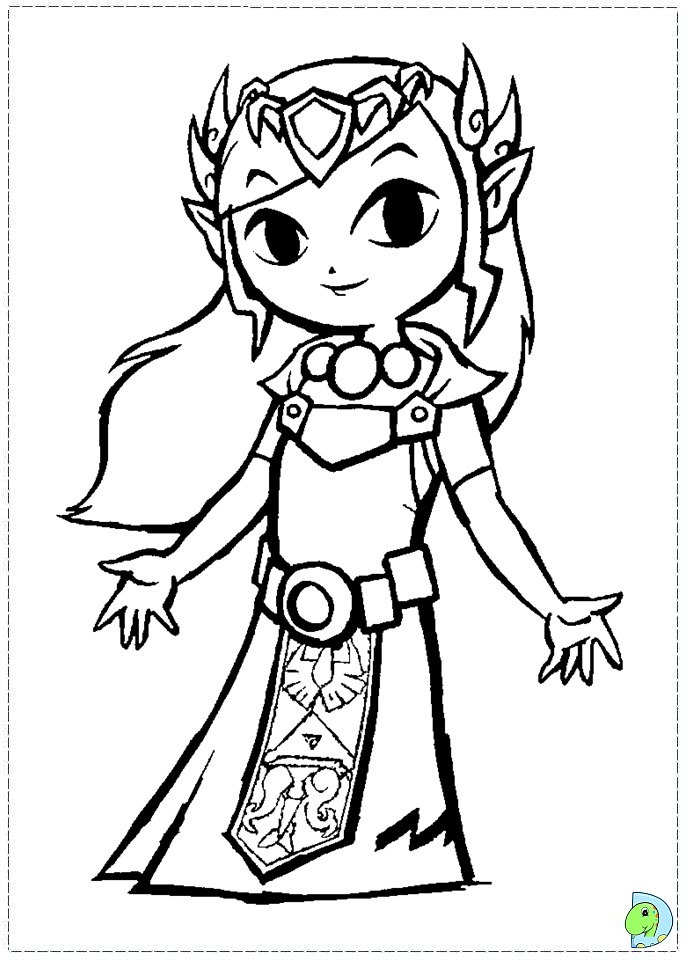 legends of zelda coloring pages The Legend of Zelda Coloring page  DinoKids.org legends of zelda coloring pages
