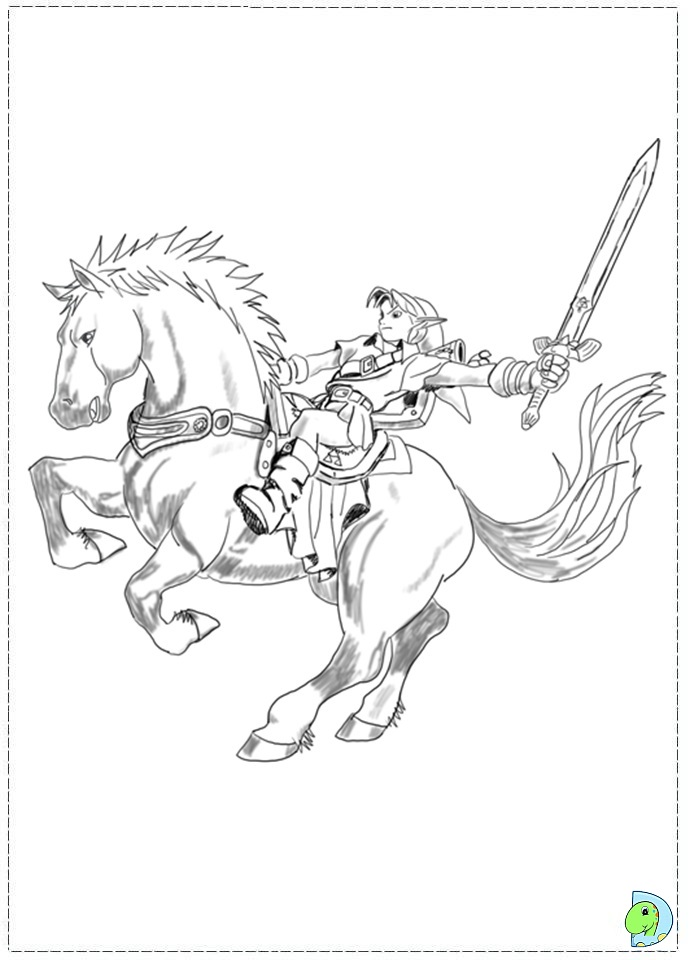 The Legend Of Zelda Coloring Page DinoKidsorg