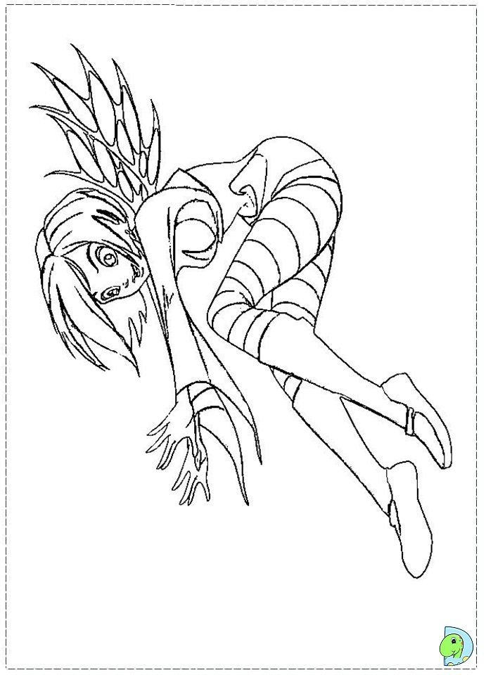 jetix witch coloring pages - photo#6