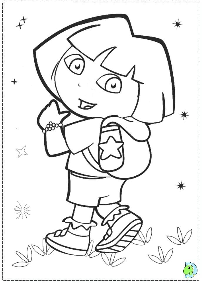 Dora the explorer coloring page- DinoKids.org
