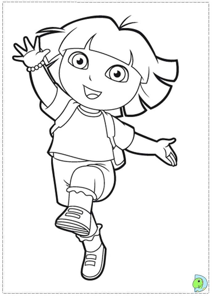 Dora The Explorer Coloring Page #1