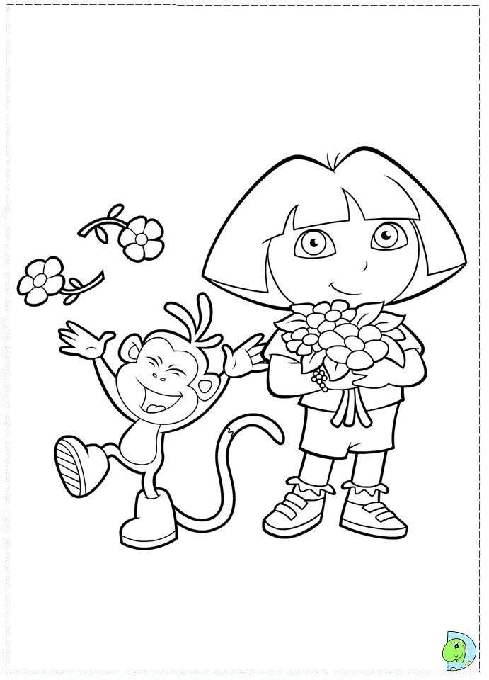 Dora The Explorer Coloring Page DinoKidsorg