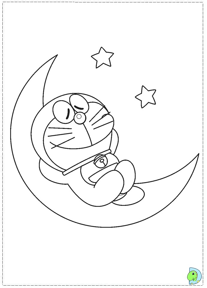 Doraemon coloring page- DinoKids.org A Coloring Page