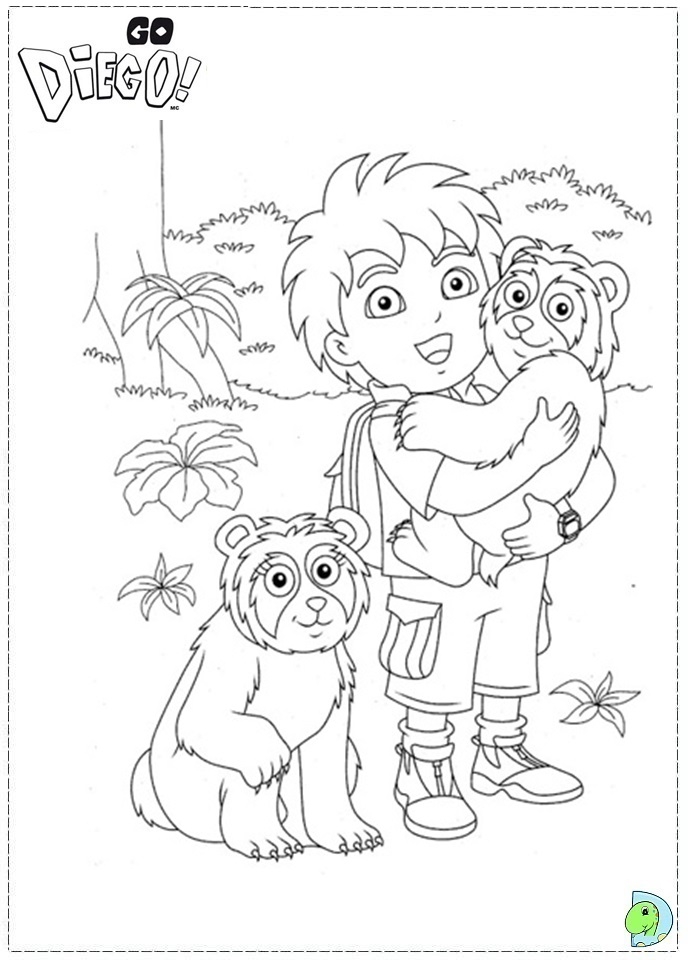 go diego go coloring pages - go diego coloring page