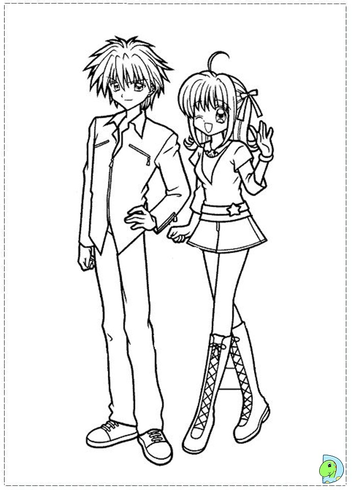 mermaid melody coloring book pages - photo#15
