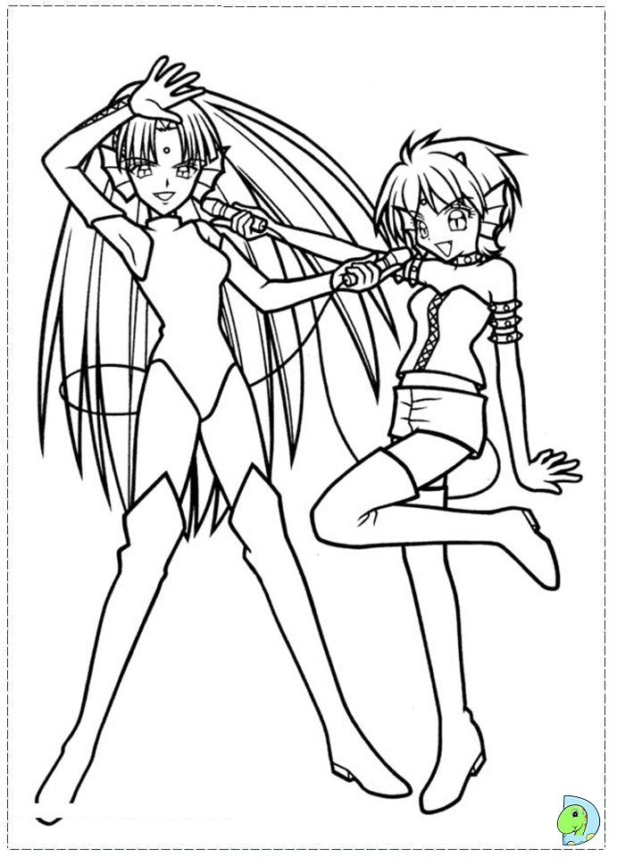 Anime mermaid melody coloring pages