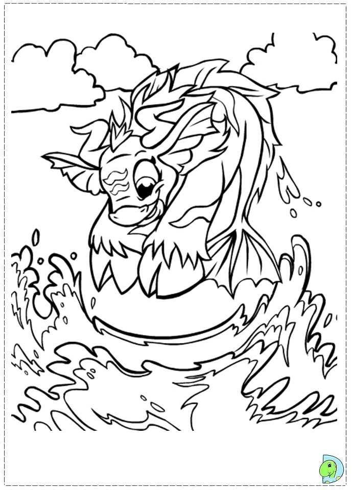 Neopets Maraqua Coloring Page DinoKidsorg