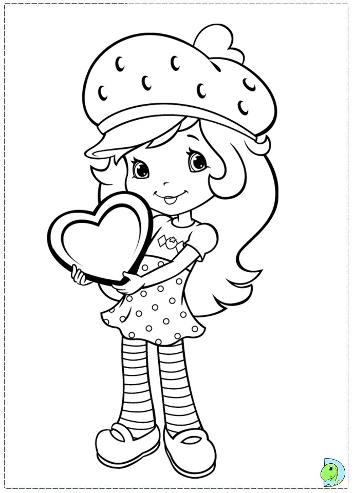 strawberry shortcake coloring page dinokidsorg - Strawberry Shortcake Coloring Pages