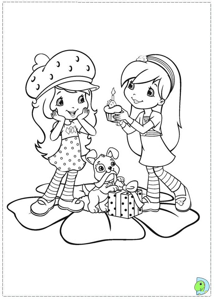 Strawberry Shortcake Coloring Page DinoKidsorg
