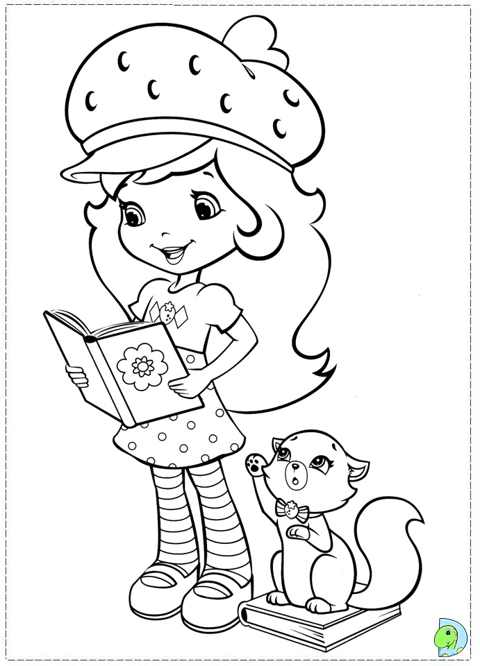 free printable strawberry shortcake coloring pages - strawberry shortcake coloring page