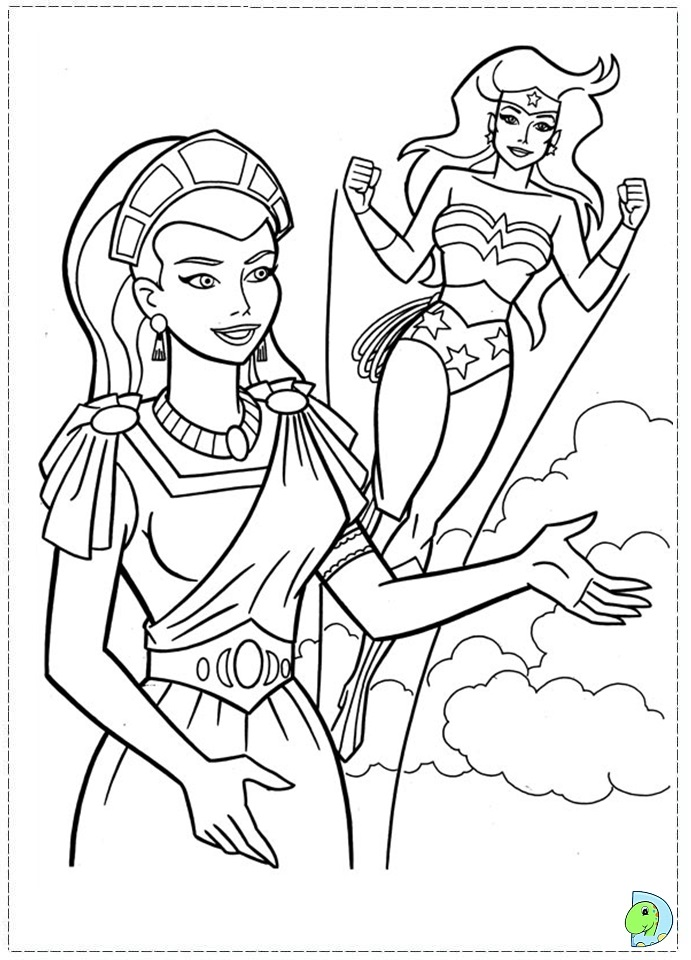 wonder woman amazon coloring pages - photo#13
