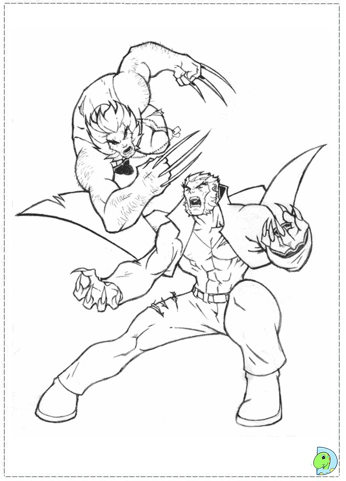 x men 2 coloring pages - photo #37