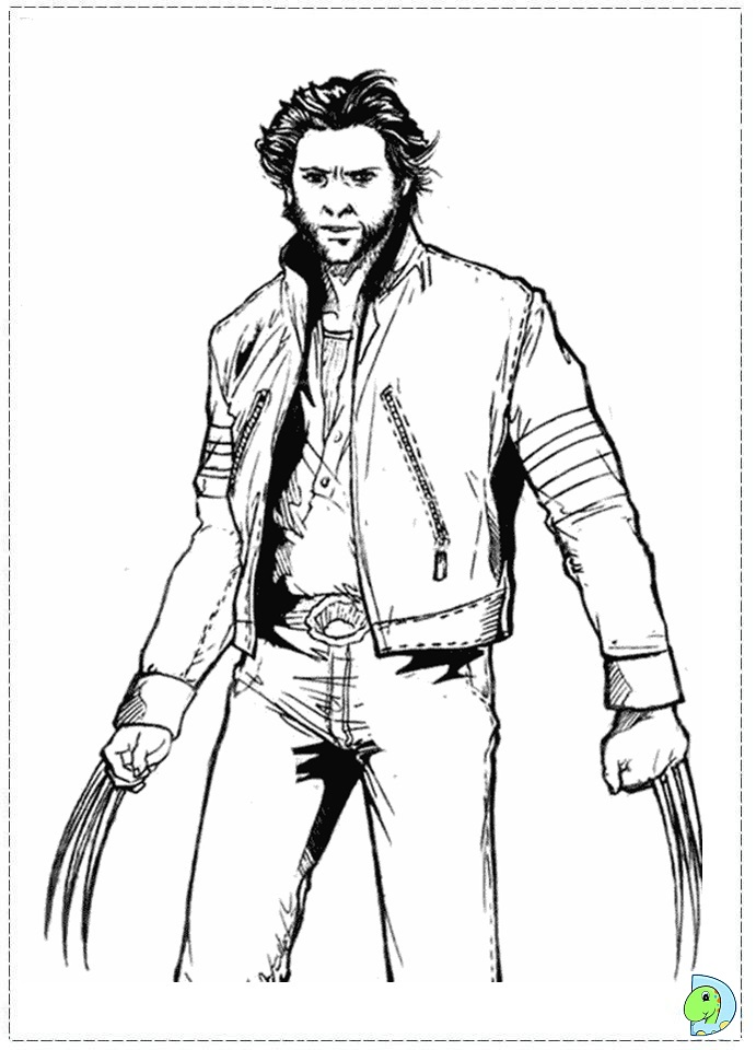 x men coloring book pages - photo #29