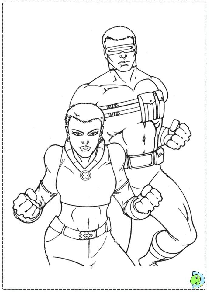 X Men Coloring page- DinoKids.org