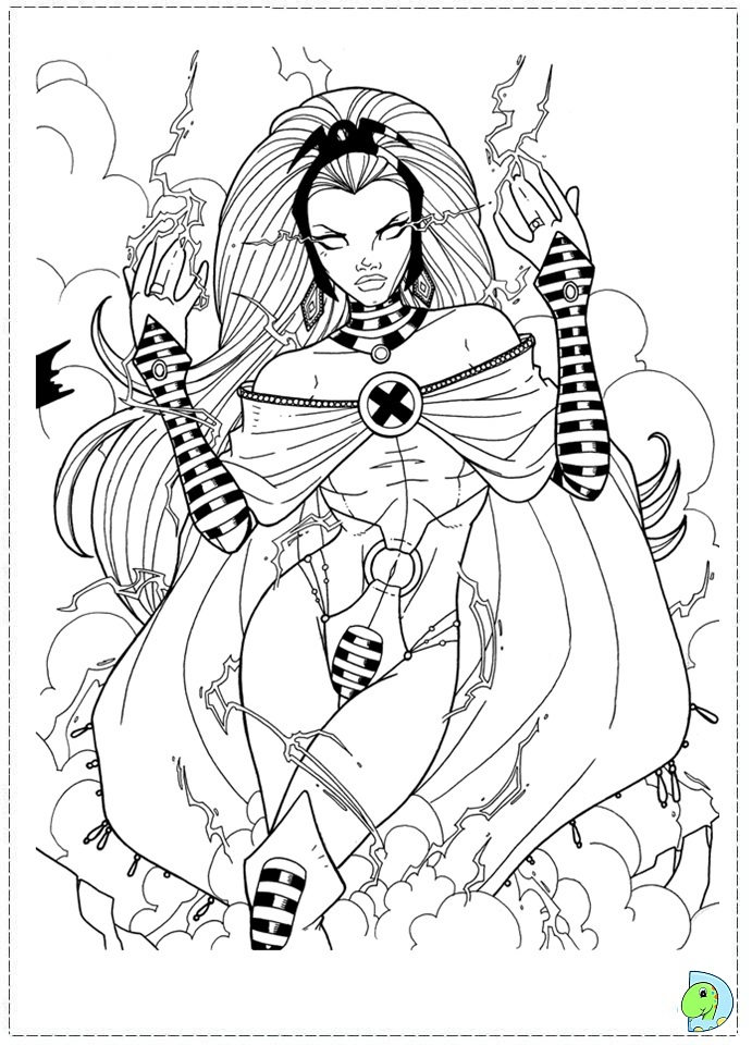 coloring book pages x man - photo#50