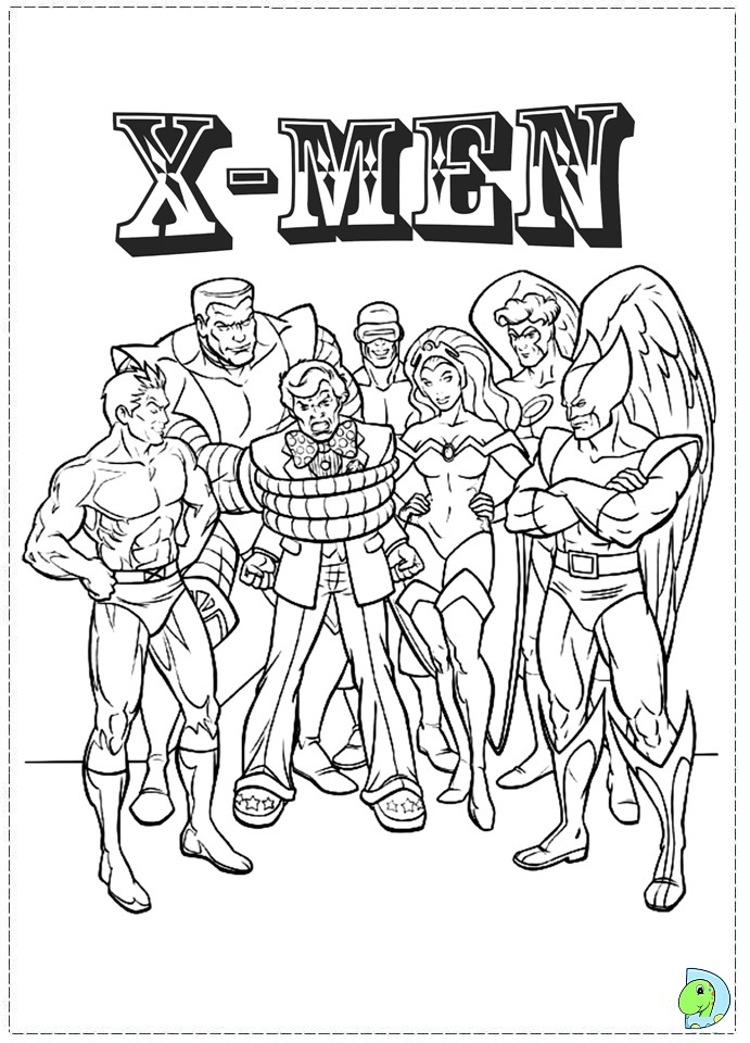 x men 2 coloring pages - photo #4
