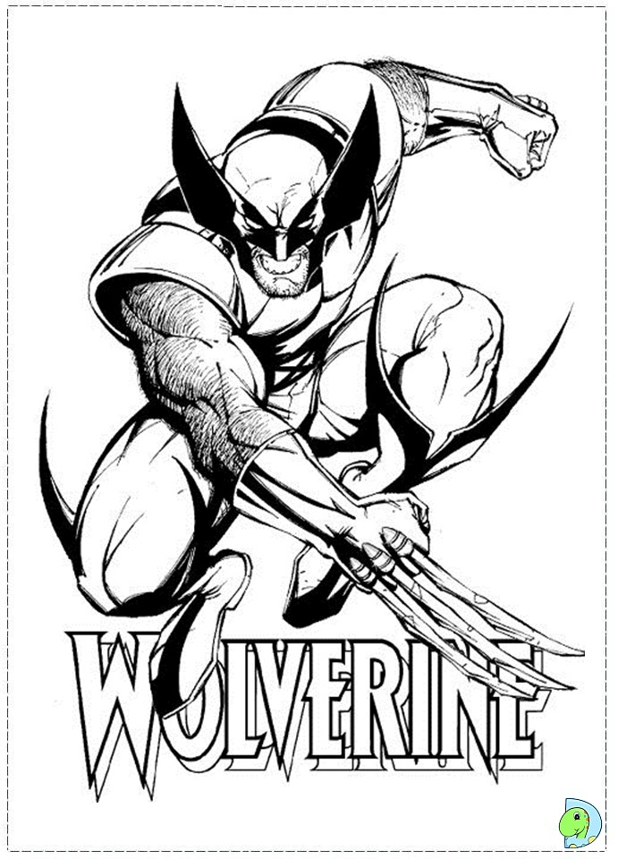 xmen coloring pages - x men coloring page