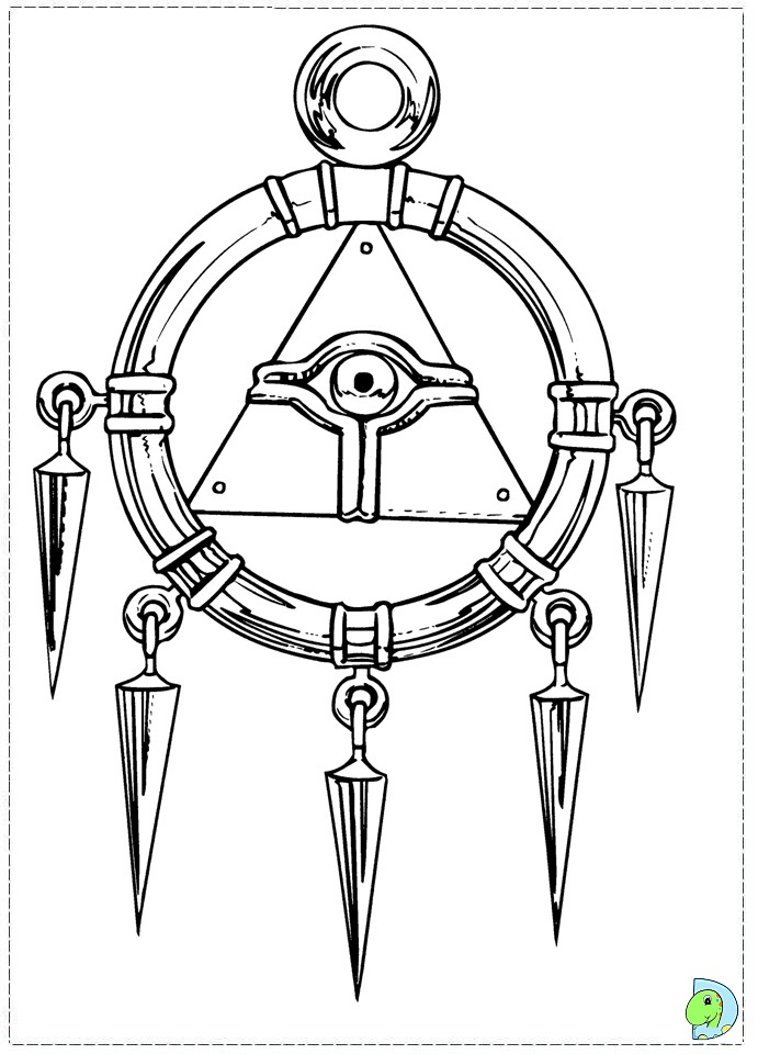 Yu Gi Oh Coloring Pages To Print #9