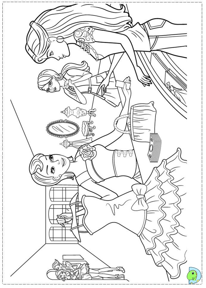 Barbie Fashion Fairytale Coloring Pages For Kids Dinokids Org Fashionable Coloring Pages 2