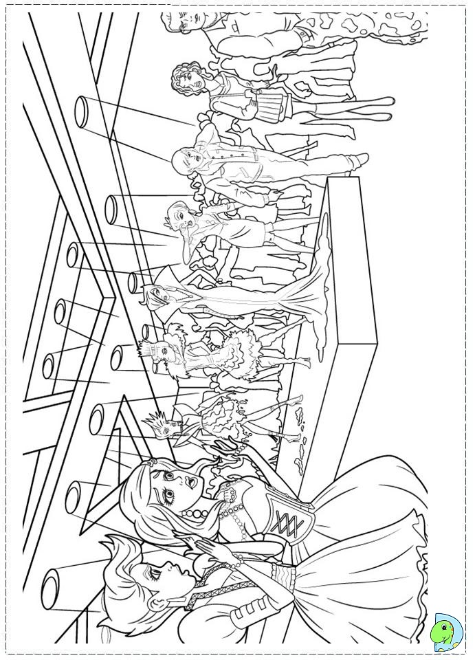 Barbie fashion fairytale coloring pages for kids for Fashion barbie coloring pages