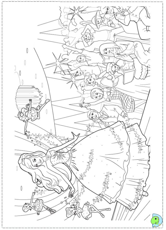 Barbie Fashion Fairytale Coloring pages for kids- DinoKids.org