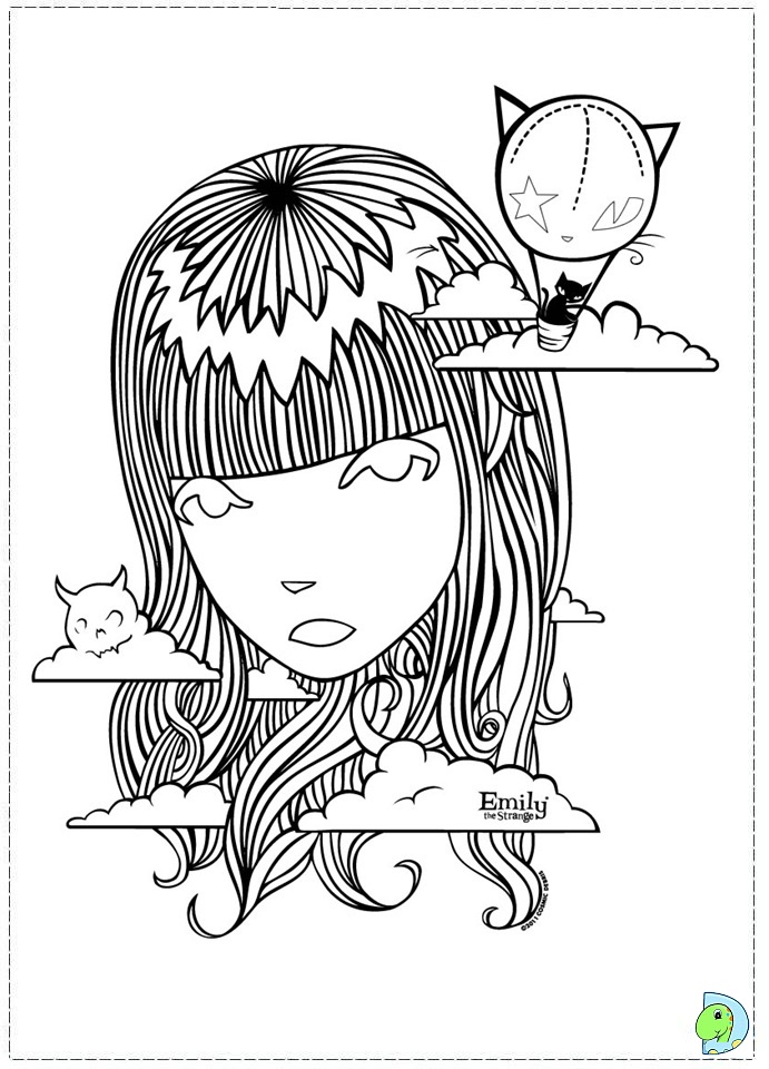emily strange coloring pages - photo#2