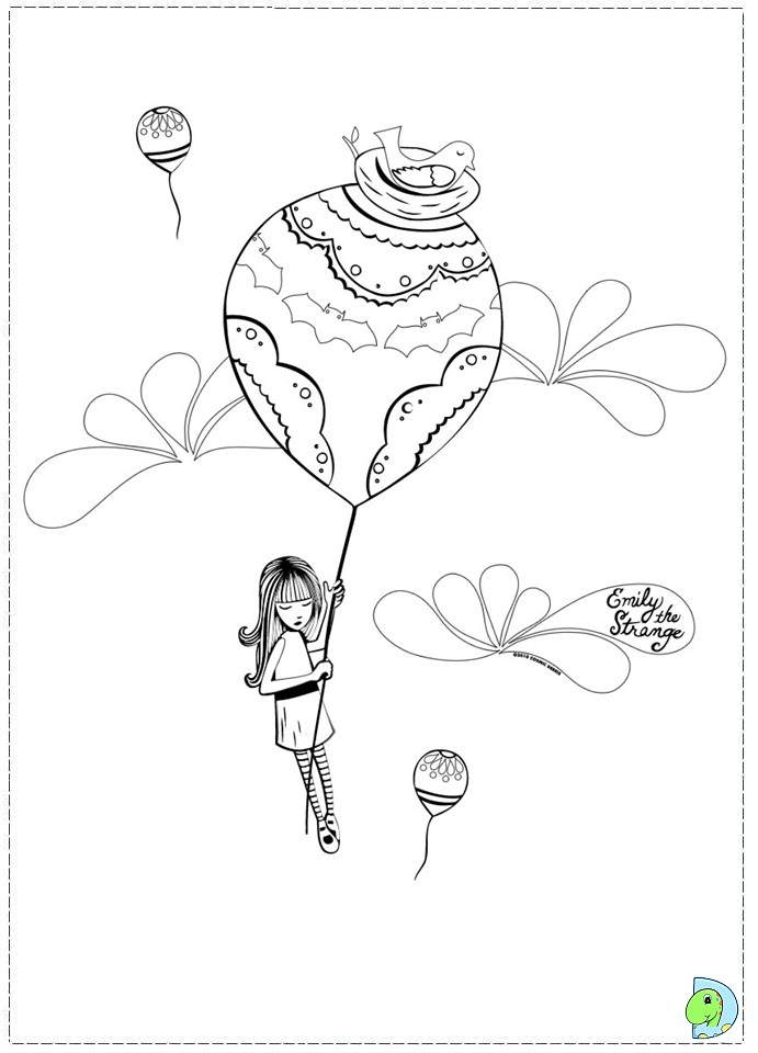 emily strange coloring pages - photo#12