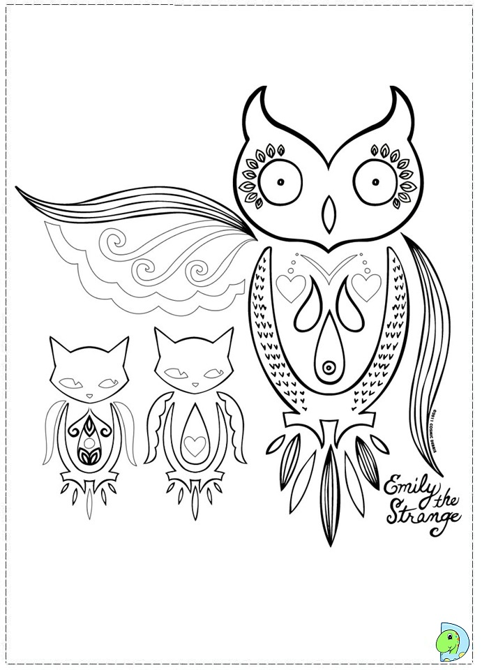 emily strange coloring pages - photo#11