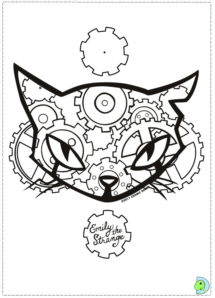 Emily The Strange Coloring page- DinoKids.org