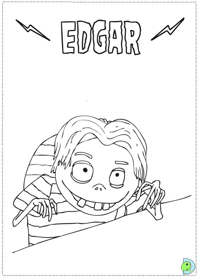 Frankenweenie Coloring Page DinoKidsorg