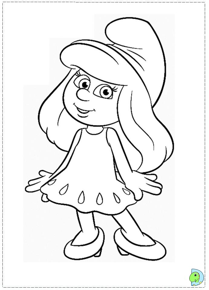 Smurfs Coloring Page Dinokids Org Smurfs Coloring Pages