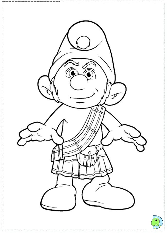hackus smurf coloring pages - photo#20