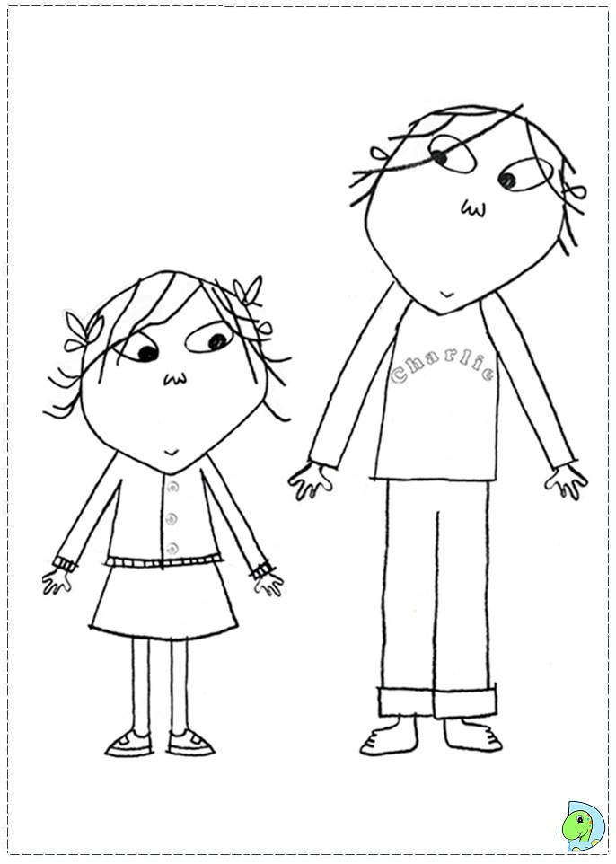 Charlie And Lola Coloring Page DinoKidsorg