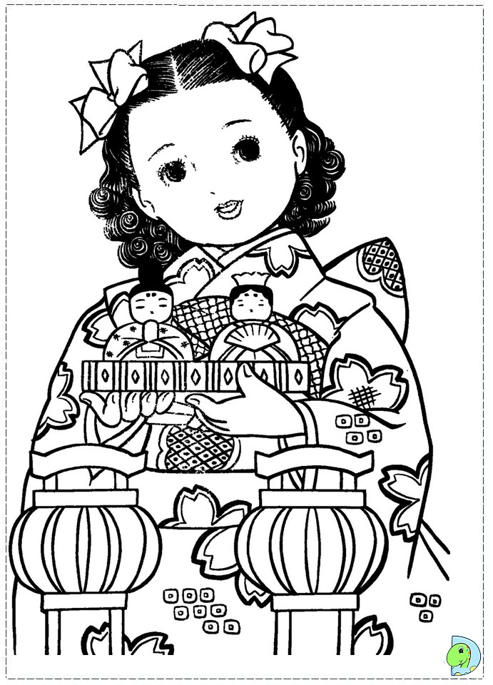 free coloring pages japanese girls - photo#16