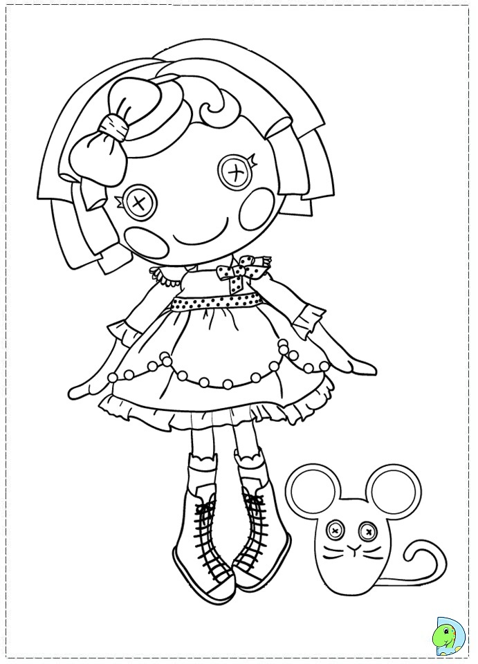 Lalaloopsy Coloring Pages Dinokids Org Printable Lalaloopsy Coloring Pages