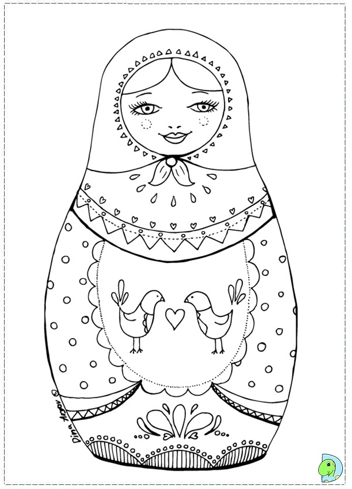 FREE! - Russian Doll Colouring Pages (teacher made) | 960x691