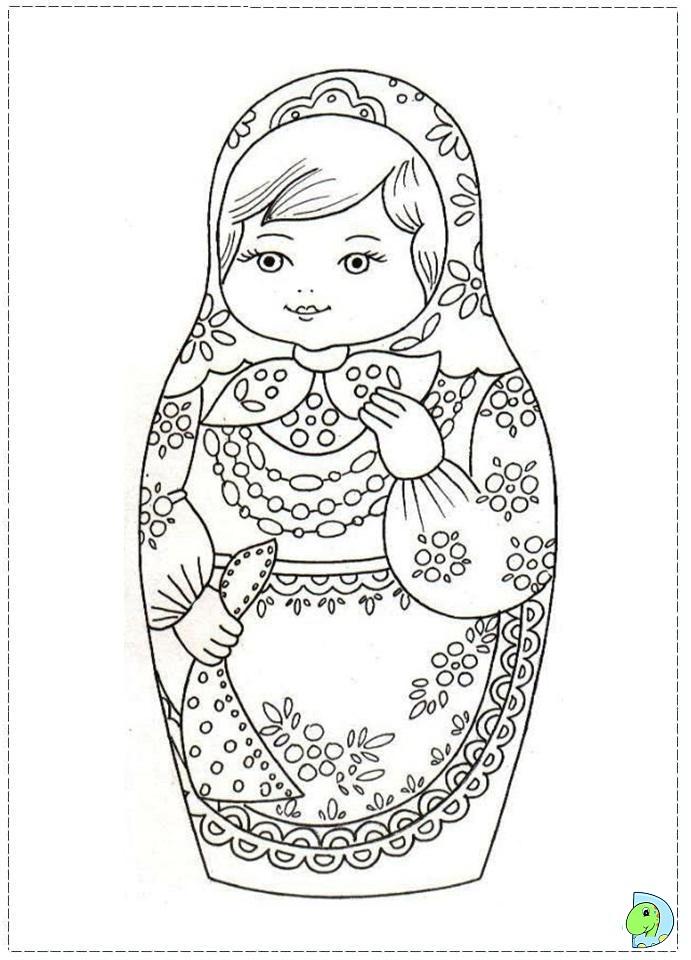 matroyshka dolls coloring pages - photo#1