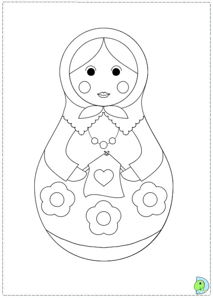 matroyshka dolls coloring pages - photo#29