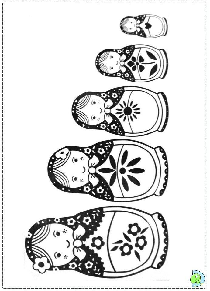 matroyshka dolls coloring pages - photo#18