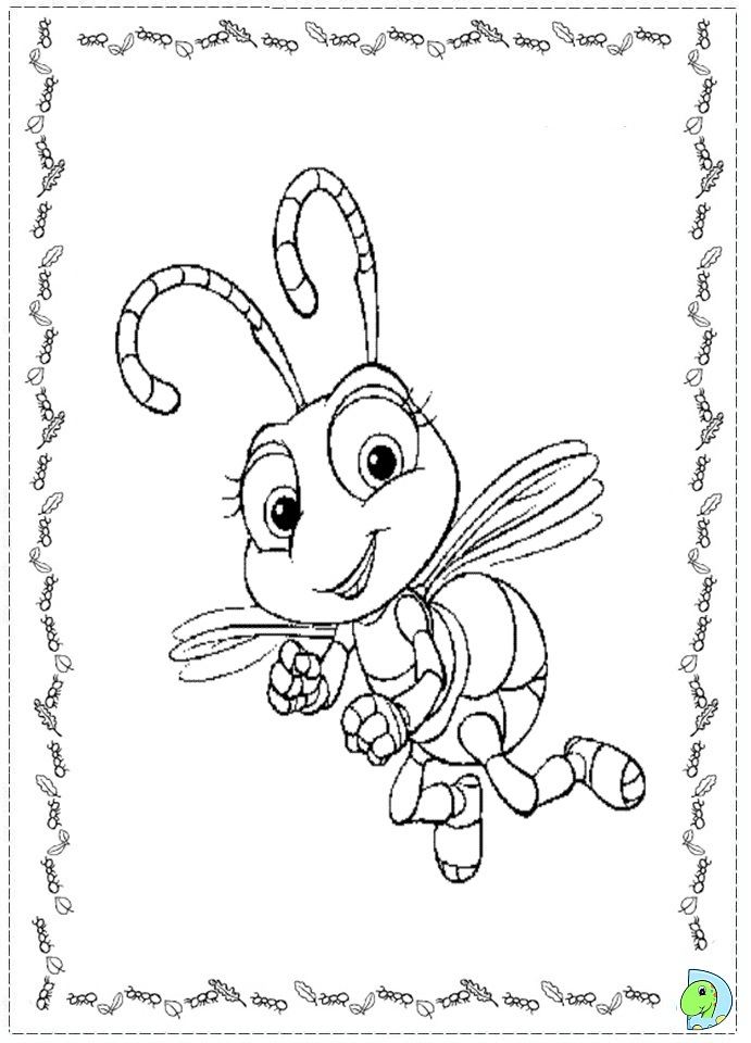 a bugs life coloring book pages - photo #24
