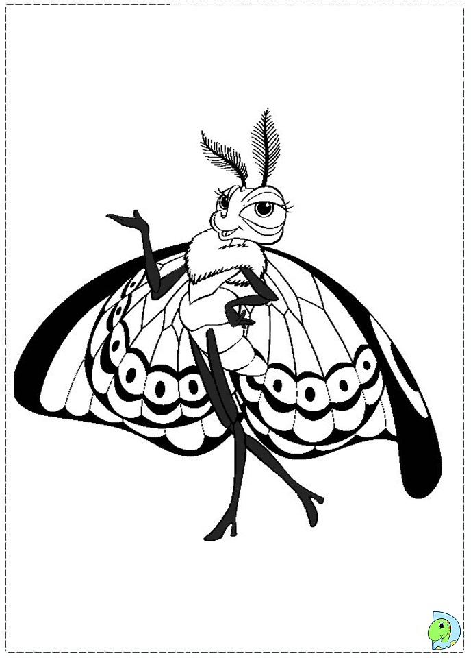 a bugs life coloring book pages - photo #50