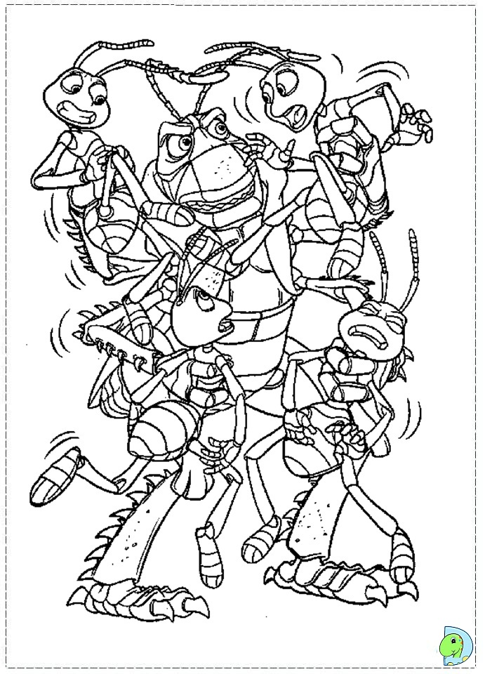 a bugs life coloring book pages - photo #44