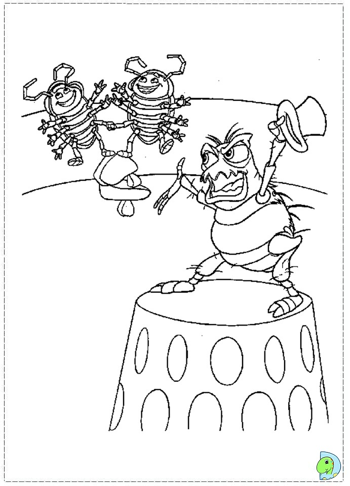 a bugs life coloring book pages - photo #49